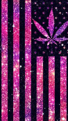 Weed Glitz Wallpaper