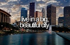 live in a big, beautiful city.