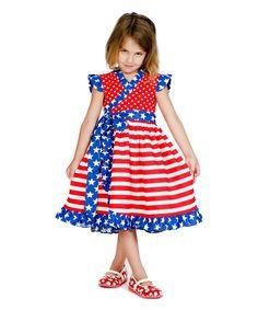Loving this Red & Blue Mischa Dress - Infant, Toddler & Girls on #zulily! #zulilyfinds