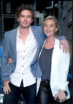Asher Keddie & Vincent Fantauzzo at the opening of 'La Chinesca'.