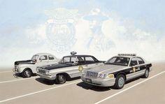 FORD Police car's Through 3 generations North Carolina State Police, North Carolina Highway Patrol, Old Police Cars, Ford Police, Nc State Highway Patrol, Emergency Vehicles, Police Vehicles, Ford Lincoln Mercury, Car Badges