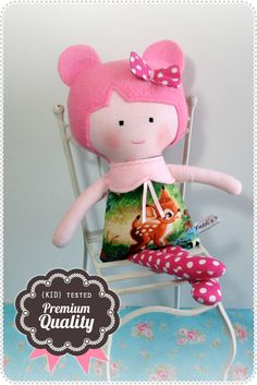 Cath's Cottage Handmade Doll, Toy, Softie, Bambi <3  pattern by DollsAndDaydreams.com