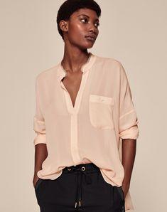 845adc4d75443d Oversized Silk-Blend Blouse | Women's Tops | ME+EM