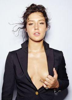 """theroning: """" Adèle Exarchopoulos by Jean-Baptiste Mondino for Elle France, May 15th 2015. """""""