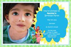 yo gabba gabba birthday invite with big picture
