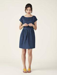 Medwinds for Woman - Gala Linen Dress in Navy