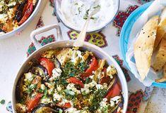 Marokanischer Hühnerauflauf mit Minzejoghurt