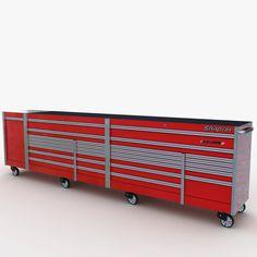 Tool Box Storage, Garage Organization, Built In Storage, Toolbox Ideas, Storage Buildings, Mechanic Tools, Work Benches, Garage Shop, Mani