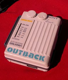 Vintage Sony WMAF79 OUTBACK Walkman Cassette by MikesOddSAndEnds