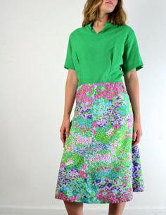 1970s Plus Size Klopman Mills Dress