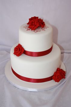 Red Roses Wedding Cake - www.suikerbekkie.co.za Red Rose Wedding, Red Roses, Wedding Cakes, Desserts, Conch Fritters, Cake, Wedding Gown Cakes, Tailgate Desserts, Deserts