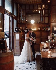 Photo by AMY ANSTATT in Brooklyn Winery with @brooklynwinery, @designsbyahnnyc, and @tiadorabridal. Image may contain: one or more people, wedding and indoor. Brooklyn, Amy, Backdrops, Marriage, Romantic, Indoor, Weddings, Photo And Video, Wedding Dresses
