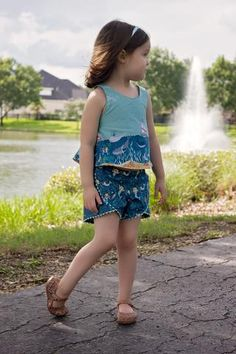 Camille Top and Lily shorts pdf patterns from VFT