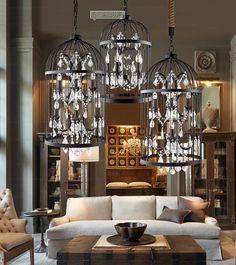 Moderne led kristallleuchter blume roses lampenschirm for Billige led deckenlampen