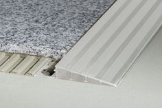 Schluter®-RENO-RAMP/-K Schluter Tile Edge, Chariot A Roulette, Decorative Lines, Tile Trim, Floor Trim, Tile Installation, Engineered Hardwood, Brushed Stainless Steel, Tile Design
