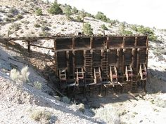 Loadout bins - The Horn Mine, Frisco Ghost Town, Utah  X