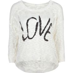 Click Image Above To Purchase: Full Tilt Love Womens Hi Low Sweater Kids Outfits, Cool Outfits, Fashion Outfits, Cream Shirt, Cream Sweater, Long Length Shirts, Sweater Shirt, Tilt, Graphic Sweatshirt