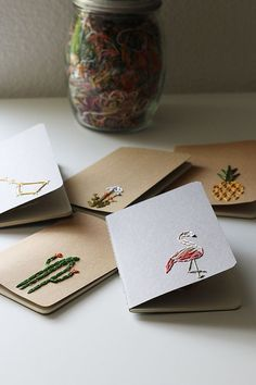 plans Pineapple- hand embroidered moleskine pocket notebook *LINED Pocket Notebook, Diy Notebook, Notebook Covers, Journal Covers, Moleskine Notebook, Notebook Organization, Handmade Notebook, Karten Diy, Paper Embroidery