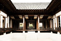 Hanok, an old traditional korean house
