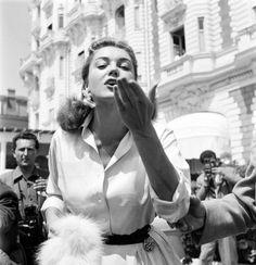 Esther Williams en Cannes, 1955