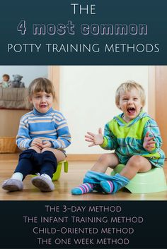 There are lots of different ways to potty train your child. Here's the 4 most common potty training methods you'll find online today.