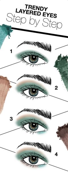 Use the limited-edition Emerald Noir eye colour palette to create an on-trend eye look: 1. Blend the deep emerald shade across eyelids. 2. Sweep the shimmering copper shade along brow bones. 3. Apply the shimmering teal shade along the inner portion of bottom lashlines. 4. Apply the deep matte brown shade along the outer portion of bottom lashlines.