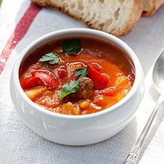 Zupa gulaszowa | Kwestia Smaku Soup Recipes, Cooking Recipes, Recipies, Goulash Soup, Polish Recipes, Polish Food, Our Daily Bread, Soups And Stews, Soul Food