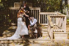 Sweet Autumn Elopement Unites a New Family | OneWed  - Venue:  www.timberwolfcreek.com in Maggie Valley NC