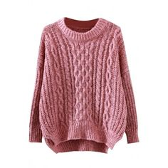 Favourite Solid Ribbed Knit Woman Sweater OASAP.COM ($23) ❤ liked on Polyvore featuring tops, sweaters, ribbed knit top, women sweaters, long sleeve pullover, ribbed knit crop top and sweater pullover