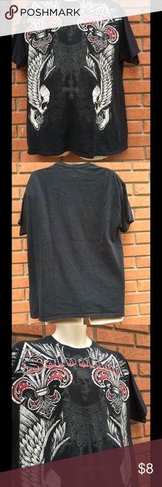 "Men's Salvation Black tee shirt XL 100% cotton..measures 23"" armpit to armpit..29"" length Salavation Shirts Tees - Short Sleeve"