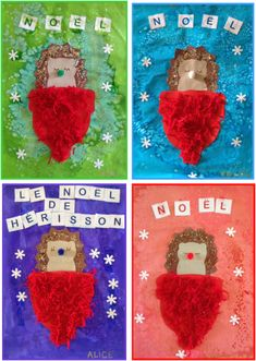 The Hedgehog Christmas - Diy Gifts Christmas Time Is Here, Christmas Tag, Diy Christmas Gifts, Xmas, Christmas Ornaments, Holiday Decor, Hedgehog Craft, Alice, Theme Noel