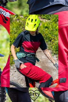 These amazing and comfortable mountain bike shorts have 2 giant pockets -- one on each thigh. Easily access your phone for killer bike vids and carry everything you need in your pockets... hello snacks! #bikeshorts #mountainbikeclothing #womensbiking #mountainbiking #biking #bikeshortswithpockets #redshorts #bikingshorts #womensbiking Mountain Bike Jerseys, Mountain Bike Clothing, Mountain Bike Shorts, Best Mountain Bikes, Mountain Biking, Long Shorts, Red Shorts, Slim Hips, Downhill Bike