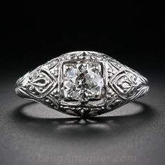 .63 Carat Diamond Edwardian Engagement Ring. LOVE. Maybe add more sculpting to prongs