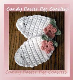 www.crochetmemories.com/blog Free pattern for an Easter egg coaster