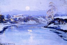 Moonrise , by Clarence Gagnon Follow the biggest painting board on Pinterest: www.pinterest.com/atelierbeauvoir