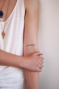 Set of two mountain tattoos / mountain tattoo / small tattoo / festival tattoo / bohemian . - Set of two mountain tattoos / mountain tattoo / small tattoo / festival tattoo / bohemian tattoo / - Wörter Tattoos, Trendy Tattoos, Temporary Tattoos, Sleeve Tattoos, Tattoos For Women, Wrist Tattoos, Tattos, Brown Tattoos, Tattoo Sleeves