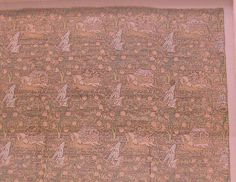 Brocade with Hunting Scene Object Name: Brocade Date: 18th century Geography: Iran, probably Kashan Culture: Islamic Medium: Silk, metal wrapped thread; taqueté Accession Number: 10.166