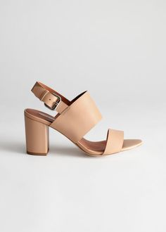 9a2c5211502 All shoes -   Other Stories DE. Heel Strap Leather Sandals