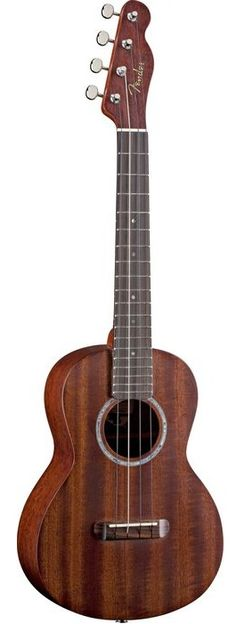 Fender Acoustic-Electric Tenor Ukulele. So pretty!