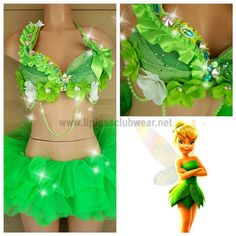 Sexy Fairy Tinkerbell Costume Fairy Costume Sexy by LipglossWear