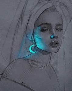 Art Drawings Sketches, Pencil Drawings, Pencil Art, Cool Art, Illustrations, Cool Stuff, Drawing Portraits, Anime, Image