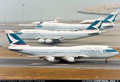 Cathay Pacific 747s at Hong Kong