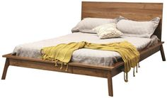Terrain Mid Century Modern Panel Bed - Made in the USA from sustainable hardwoods.