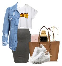 """""""Thrasher"""" by shellyzz ❤ liked on Polyvore featuring Retrò, CC, American Apparel, Casio, Michael Kors and Puma"""