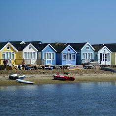 A little slice of heaven: beach huts are sought after in the Christchurch area of Dorset. British Beaches, British Seaside, Beach Shack, Beach Huts, Cabana, Hut House, Beach Wood, Seaside Beach, Floating House