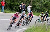 Giro d'Italia 2016 Stage 10: After being dropped on the previous climb, Gianluca Brambilla descended with abandon, clawed back to the GC group on the final climb and then helped his teammate Bob Jungels gain the Pink jersey