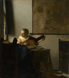 A Woman with a Lute, c.1662-63, by Johannes Vermeer (Dutch, 1632–1675).