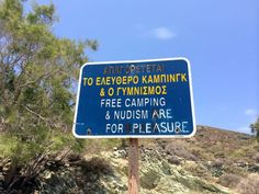Nude Beach Sign.. with a smart intervention! at #Folegandros Island #Greece #nudism