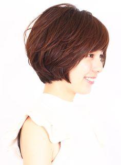 大人のシンプルショートボブ(髪型ショートヘア)