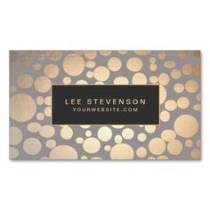 Warm Gray Gold Circles Beauty Salon and Spa Business Card. This is a fully customizable business card and available on several paper types for your needs. You can upload your own image or use the image as is. Just click this template to get started!